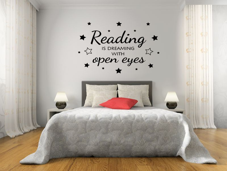 Reading Is Dreaming Wall Art Sticker Pvc Decal Modern Transfer Bedroom Quotes